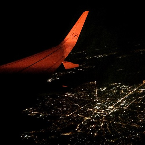 Night flight #night #flight #lufthansa #airplane #plane #city #atnight #view #Messel #Deutschland #Germany #Europe #ontour