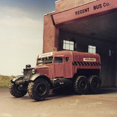 Scammell Pioneer Heavy Duty Recovery Vehicle. (ManOfYorkshire) Tags: ex scale army model duty royal oxford artillery breakdown heavy pioneer recovery detailed diecast 176 scammell code3 repainted