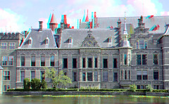 Hofvijver The Hague 3D (wim hoppenbrouwers) Tags: buildings 3d anaglyph stereo thehague hofvijver parliamentbuildings redcyan