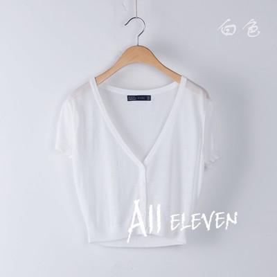 Außerhalb der kleinen Kurzarm-Shirts schlanke kurze Frauen im Sommer eine Klimaanlage in 2016 Eis Sonne stricken Pullover Schal Mantel Kleid