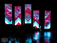 pattern (genelabo) Tags: party summer reflection rain wall outdoor sommer towers havana cuba slide vj led projection welcome fest pani kuba p1 munic colourfull vjing genelabo