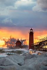 Watercolor Splash (Summer Jean Photography) Tags: pier michigan greatlakes bigwaves grandhaven