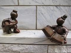 Cleveland, OH, USA (LuciaB) Tags: ohio sculpture bronze cleveland tomotterness clevelandpubliclibrary