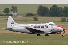 DH104 DOVE D-INKA AIR INCENTIVE CLASSIC\LTU (shanairpic) Tags: propliner dh104 dehavillanddove duxford ltu airincentiveclassic dinka