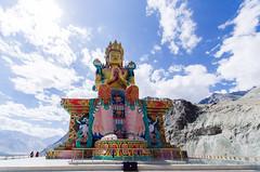 Diskit Monastery (ashwin kumar) Tags: green leh ladakh kashmir nubravalley rivershyok river shyok himalayas diskit monastery