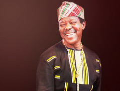 King Sunny Ad (kirstiecat) Tags: musician music concert african live band millenniumpark pritzkerpavillion nigerian downtownsound kingsunnyad kingofjuju ministerofenjoyment sundayadeniyi