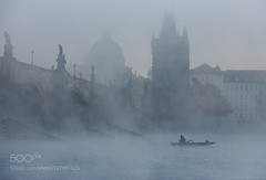 Cold morning in Prague (hammockbuddy) Tags: ifttt 500px mist sunrise fog sunset water travel blue clouds fisherman prague atmosphere charles bridge czech republic cold morning fall winter outdoor hlavn msto praha karlv most tale dreamy prag esk republika mlha krasa lukaskrasacom