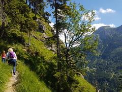 Heading up the Tegelberg from Neuschwanstein (Mark Begbie) Tags: fssen tegelberg wanderweg bavaria neuschwanstein germany