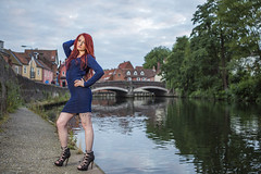 Kirstie Louise (Al Glenton - Norfolk images) Tags: kirstie louise model modelling portrait fashion outdoorportrait city landscape glamour red hair alglentonphotography norfolk images norwich riverwensum canon5dmk3 canon70200mmf28l icelights posing
