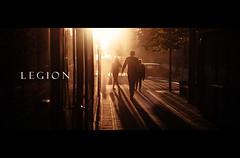 Legion (ewitsoe) Tags: film legion horror fun brooding street mockup ewitsoe nikond80 sunset reddish tram text filmposter cinema forfun sgadows long shadows people pedestrian