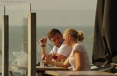 Portrait (Natali Antonovich) Tags: belgiancoast portrait northsea sea seasideresort seashore seaside seaboard lifestyle relaxation water terras cafe couple pair heandshe lovestory romance blankenberge belgium belgique belgie