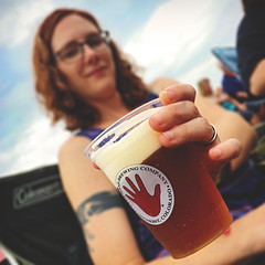 228 | 366 | V (Randomographer) Tags: project366 beer cup left hand brewing company woman giving cold refreshing alcohol craft brewery handing give have logo plastic liquid drink beverage foam head amber ale female longmont colorado fun day outdoors 228 366 human smile happy