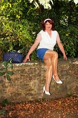BF9b (Tinaturtle27) Tags: crossdresser transvestite pantyhose burgfrankenstein