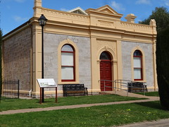 Laura. The Masonic Lodge built in 1908. It is now used by the local history society as an archive. (denisbin) Tags: laura flindersranges masoniclodge masons masonic school mill flourmill chimney