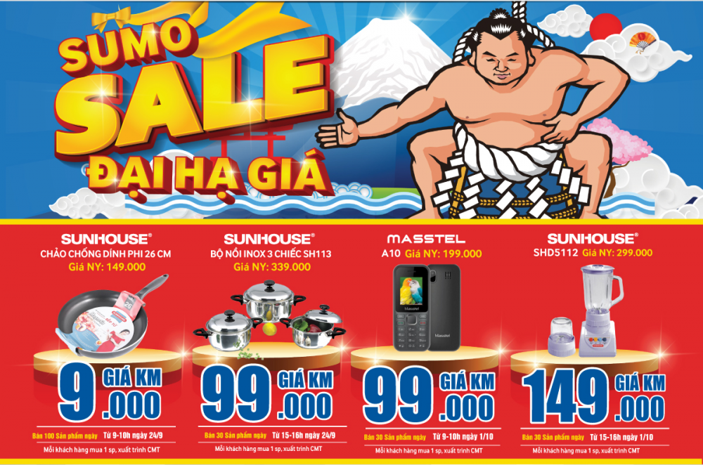 Sumo Sale: Khuyến mại sốc tại Savico và Thanh Hóa