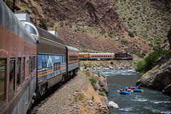 Geep 7 in the Gorge (WillJordanPhoto) Tags: trains track landscape railroad royal gorge colorado canyon rafters river