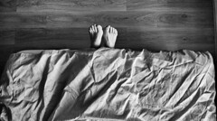 "Sockless ! (CJS*64 ""Man with a camera"") Tags: bw feet monochrome mono blackwhite bed nikon toes lying j2 lyingdown cjs nikon1 craigsunter cjs64"