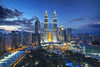 Petronas Towers Kuala Lumpur (counteragent) Tags: city sunset canon view malaysia bluehour kl hdr skybar tradershotel 60d kualalumpurpetronastowers petronastowersbycounteragent