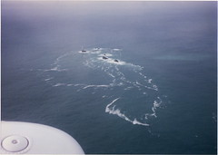 Longships Lighthouse, off Land's End, from the air, 1996 (andreboeni) Tags: lighthouse rocks cornwall aerialview aerial landsend islet longships penwith