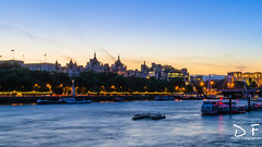 Sunset at Westminster (DF.Photography) Tags: blue sunset england london water westminster thames buildings river lights evening abend sonnenuntergang britain great fluss gebude grosbritanien tempse