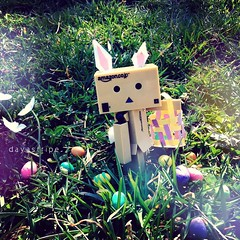 Here comes Peter Cottontail (DayaStripe) Tags: easter japanese spring easterbunny danbo toyphotography cutephotography danboard