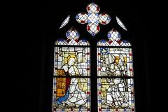 medieval stained-glass (1460) (overthemoon) Tags: windows schweiz switzerland suisse stainedglass vitrail fribourg svizzera vitraux romont romandie collegiatechurch 1460 collgiale