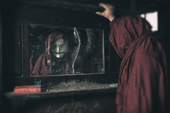 What do you see when you look in the mirror? (Dr_Fu_Manchu) Tags: urban abandoned monster scary nikon decay kentucky urbandecay creepy horror d750 louisville nikkor abandonment ruraldecay gruesome urbex rual 24120mm creepypasta