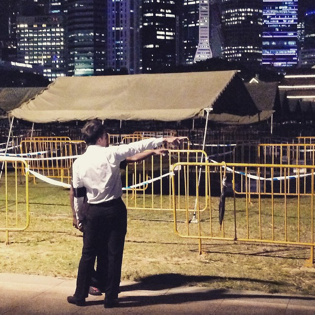 Queued for five hours till Mid-night, to pay tribute to Mr Lee Kuan Yew.