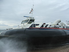 Solent Express BHT 130 Hovercraft Dec 2010 (shipcard) Tags: hovercraft bht130 hovertravel solentexpress griffonhovercraft