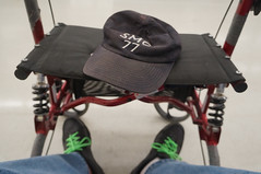 My tired, steamed feet with walker at Walmart (gnawledge wurker) Tags: shopping heat 365 fatigue hotweather