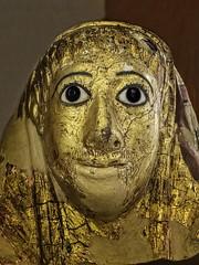 Gilt-faced cartonnage mask for a bearded man Roman Period Late 1st century CE (mharrsch) Tags: england male london beard gold mask unitedkingdom egypt mummy gilded gilt cartonnage 1stcenturyce romanperiod petriemuseum mharrsch