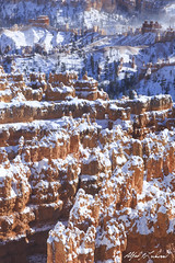 Layers and Layers of Frosting (Alfred J. Lockwood Photography) Tags: winter snow nature landscape utah nationalpark sandstone afternoon brycecanyon hoodoos brycecanyonnationalpark alfredjlockwood
