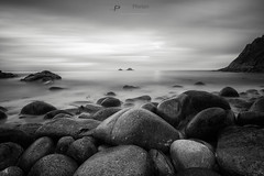 341 seconds (T_J_P) Tags: longexposure sea blackandwhite clouds mono movement rocks cornwall dramatic porthnanven