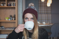 Brew? (that.alastair) Tags: iceland reykjavik suurland tea coffee hotchocolate model blonde volcom bobblehat bobble grunge dark soft canon 7dmkii sigma 30mm f14 manual dof bokeh travel hike hikking trekking backpack explore adventure