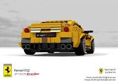 Ferrari F12 TdF (2016) (lego911) Tags: ferrari f12 berlinetta coupe tdf tour de france v12 auto car moc model miniland lego lego911 ldd render cad povray 2016 2010s italy ltalian supecar sportscar lugnuts challenge 106 exclusiveedition exclusive edition