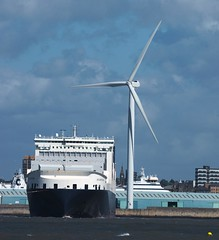 ACL Atlantic Sail (frisiabonn) Tags: acl ship conro roro container liverpool merseyside river mersey new brighton wirral large huge outdoor boat vehicle wind turbine sea water bow marine vessel uk great britain england united kingdom seaside ro g4 maritime