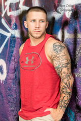 Model Mike (Shawn Collins Photography) Tags: shirtless hairy male smile muscles beard graffiti model pittsburgh modeling masculine muscular handsome guys tattoos fitness abs bearded built fit malemodel scruff tats 412 fitnessmodel pittsburghmodel