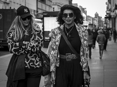 New York Groove (Leanne Boulton) Tags: people monochrome urban street candid portrait portraiture streetphotography candidstreetphotography candidportrait eyecontact candideyecontact sunglasses streetlife woman women girls female face faces facial expression style fashion stylish bold pattern look emotion feeling tone texture detail depthoffield bokeh natural outdoor light shade shadow city scene human life living humanity society culture canon 7d 50mm black white blackwhite bw mono blackandwhite glasgow scotland uk