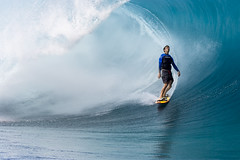 Enjoying the Moment - Malik Joyeaux (1980-2005) (John Rowe Photo) Tags: malikjoyeaux malik joyeaux surged bigwavesurfer wave waves bigwave tahiti teahupoo blue green peaceful inthemoment enjoyingthemoment rip