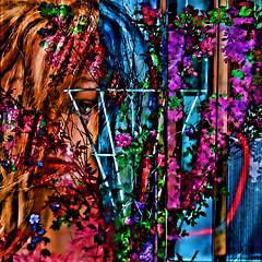 Garden envy (Lemon~art) Tags: mannequin treatthis kreativepeople garden envy outside lookingin photomontage manipulation
