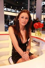 motorshow girl (themax2) Tags: 2010 girl hostess bologna motorshow expo promoter legs face miniskirt model