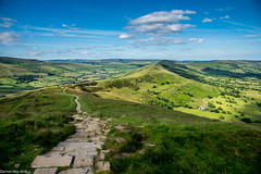 The Long Path! (dazzbo1) Tags: mam tor derbyshire peak district hills valley colour beautiful view edale hope castleton hike walk ridge great sky cloud trees path stone pathway