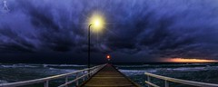 COLD FRONT AT DUSK (Laws Photography | www.lawsphotography.com) Tags: coldfront clouds pier panorama panoramic pano dusk sunset stormy storms stormcell stormfront weather weatherphotography light landscape lawsphotography vaughanlaws vaughanlawsphotography seascape waves water ocean amazingskies canon canon6d sky skies nightphotography explore inexplore explored