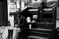 Shoeblack (Dario Manuppella) Tags: honeymoon shoeblack sanfrancisco bw black white silverefexpronik marketstreet glodengate bridge street strret photography