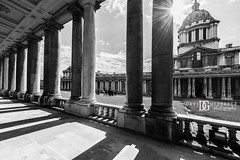 """Columns"" Old Royal Naval College, Greenwich, London, UK (davidgutierrez.co.uk) Tags: london architecture city photography davidgutierrezphotography nikond810 nikon art urban londonphotographer blackandwhite blackwhite uk monochrome bw columns greenwich oldroyalnavalcollege travel building photographer buildings england unitedkingdom  londyn    londres londra europe beautiful cityscape davidgutierrez capital structure britain greatbritain ultrawideangle afsnikkor1424mmf28ged 1424mm d810 arts landmark attraction historic shadow light"