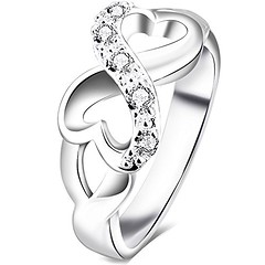 BOHG Jewelry Womens Fashion Silver-Plate Cubic Zirconia CZ Heart Infinity Symbol Ring Wedding Band Size 8 (couponrainbow) Tags: band bohg cubic fashion heart infinity jewelry ring silverplate size symbol wedding womens zirconia
