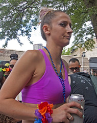 Suspicious (tacosnachosburritos) Tags: chicago pride parade gay lgbt humanity man guy girl woman chick lady hot sexy gorgeous thestreets street photography lovely attractive youth hipster windycity urban gritty beads flesh love free open queer