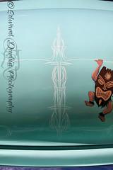 VLK Open House 2016 030 (Ed Durbin (Katodog)) Tags: voodoo larry kustoms sahara hawaiian open house elk grove village illinois custom car fabricator artist pinstripe kings roman chariots kreeper diablo psychosis dragger draggin dragqueen pinup pin up tattoo rockabilly rat rod tail chuck barber bomber betty cosmetics gears gals 5 five aces motor club