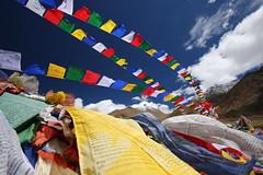 Julley!! (Rahul Gaywala) Tags: blue colors flags green julley leh ladakh incredible india himalaya pure bliss blessed kashmir jk himachal mountain indus prayer red white yellow