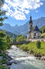 Ramsau (Kurt Haberl) Tags: ramsau alpen alps berchtesgaden berchtesgadener land country district kirche church nationalpark natur nature naturschutzgebiet naturpark ache watzmann outdoor landschaft landscape protection wildbach creek berge mountains oberbayern bavaria